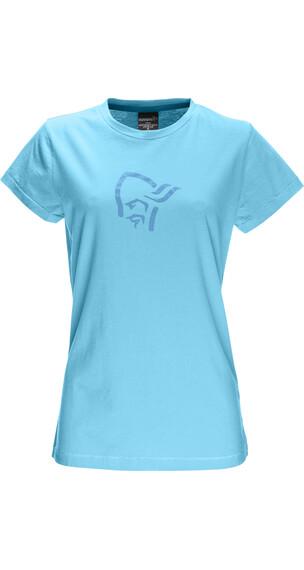 Norrøna W's /29 Cotton Logo T- Shirt Cyantastic